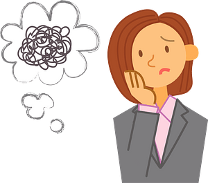 Businesswoman is Worrying clipart