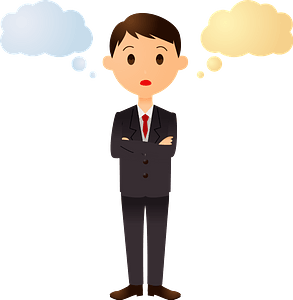 (Andrew) Businessman is Thinking clipart