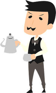 Cafe Manager Man clipart
