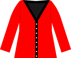 Red Cardigan Sweater clipart