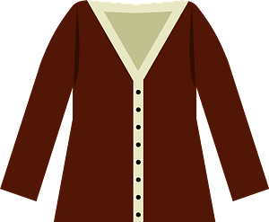 Brown Cardigan Sweater clipart