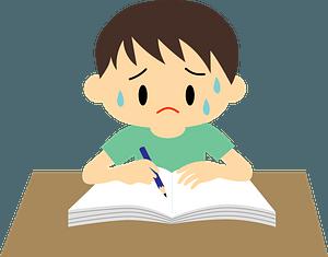 Boy is Doing Homework clipart