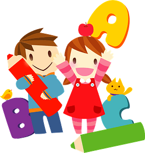 Children are Learning English clipart