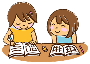 Girls are Studying clipart