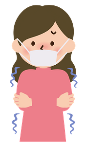 Woman is Sick with Chills and Cold clipart