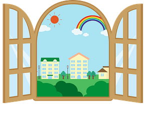 Cityscape Outside a Window clipart