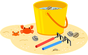Clam Digging Bucket clipart