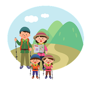 Hiking Family clipart