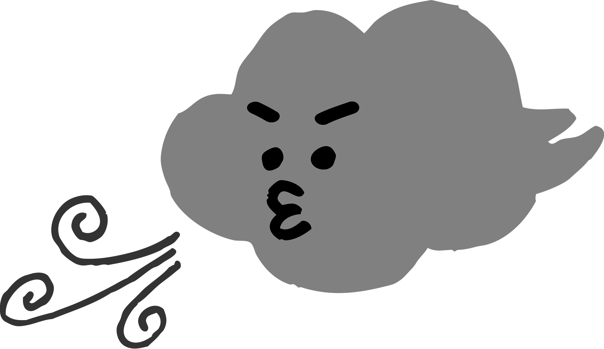 Clipart wind blowing cloud - WikiClipArt