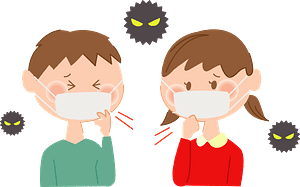 Kids are Sick with Colds clipart