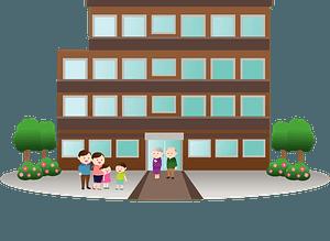 Condominium Building clipart