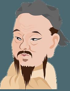 Confucius clipart