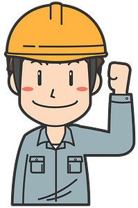 Construction Worker is Pumping a Fist clipart