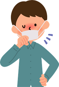 Man is Sick with a Cough and Cold clipart