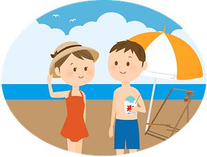 Couple is Having a Date on the Beach clipart