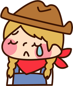 (Sally) Cowgirl is Crying clipart