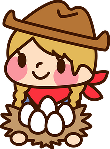 (Sally) Cowgirl is Holding Some Eggs clipart