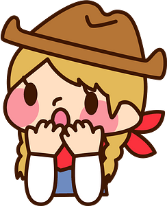 (Sally) Cowgirl is Surprised clipart