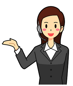 Customer Service Woman Acting as a Guide clipart