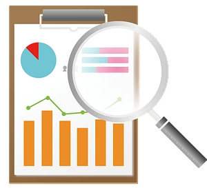 Data and Magnifying Glass clipart