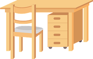 Desk and Chair Furniture clipart