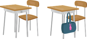 School Desks and Chairs clipart
