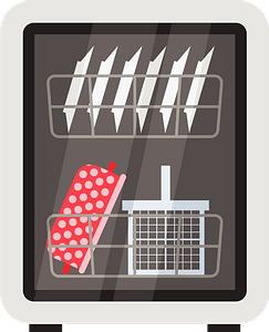 Dishwasher Machine clipart