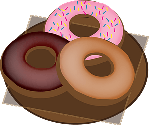Doughnuts on a Plate clipart