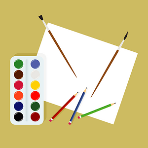 Drawing Paper Paint Paintbrush clipart
