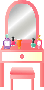 Dressing Table Mirror clipart
