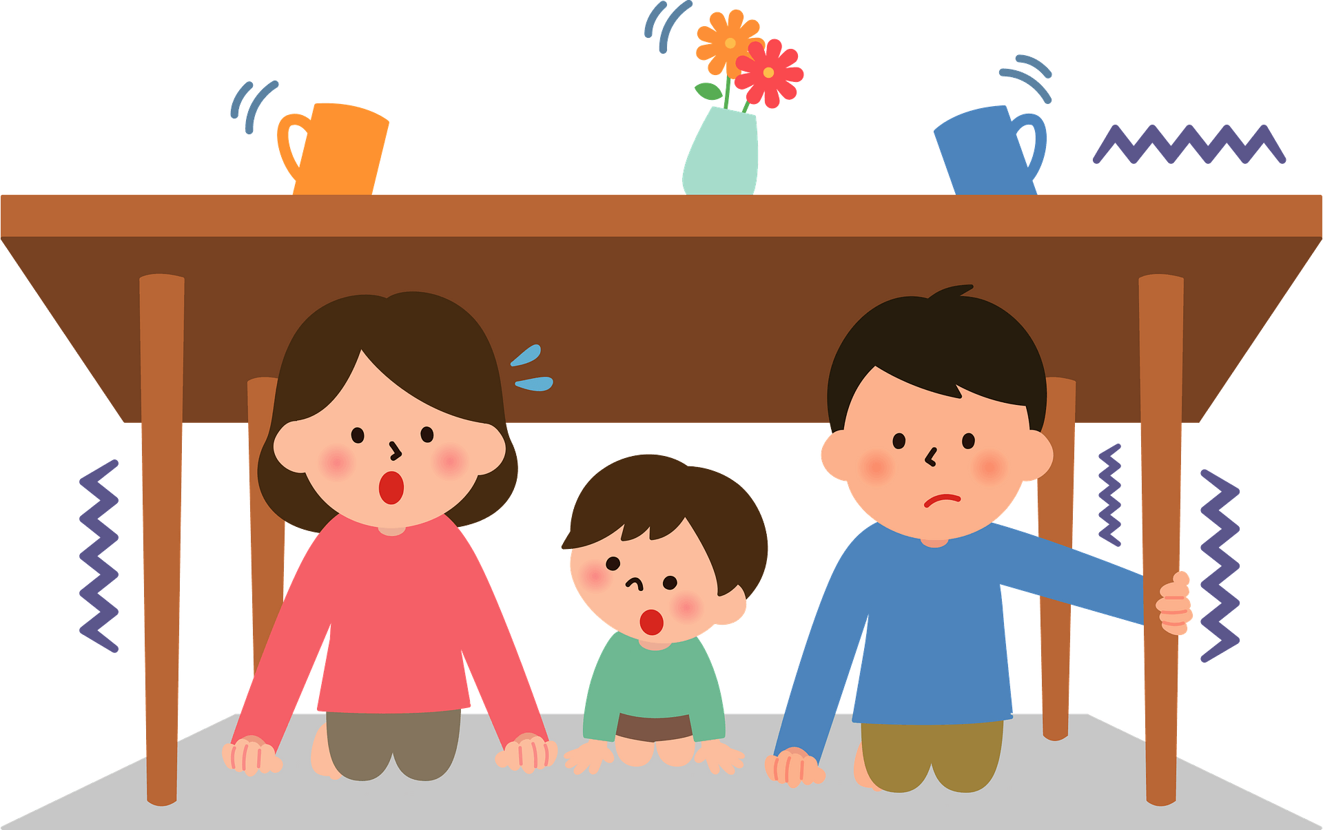 Family Is Seeking Protection From An Earthquake Clipart Free Download Transparent Png Creazilla