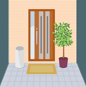 Entrance Door clipart