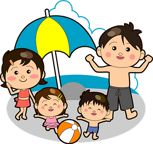 Family is at the Beach clipart