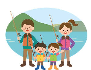 Family is Fishing clipart