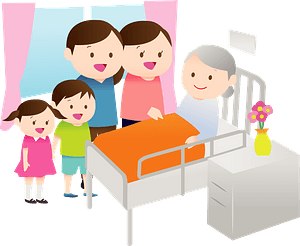 Family in a Hospital Room clipart