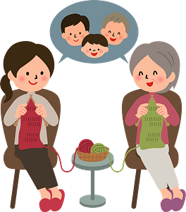 Family is Knitting clipart