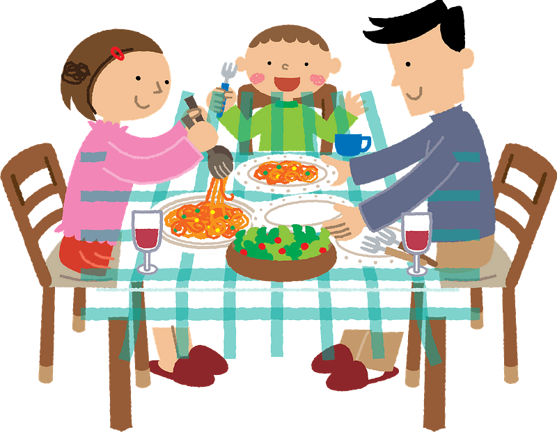 Family is Eating a Meal clipart. Free download transparent ...