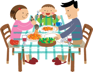 Family is Eating a Meal clipart