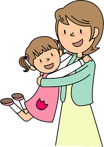 Family - Mother and Daughter clipart