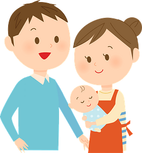 Family Mother Father Baby clipart