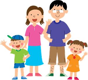 Family of Four clipart