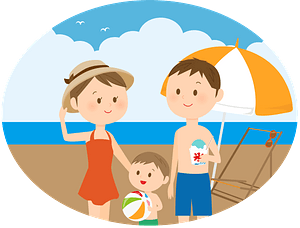 Family is at the Seashore clipart
