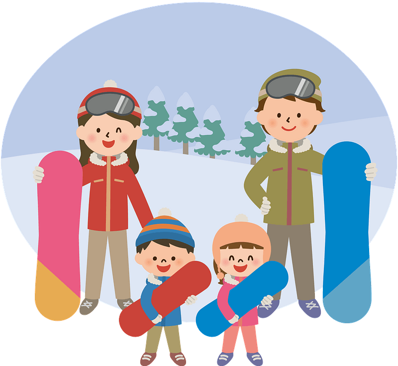 Family Is Snowboarding Clipart Free Download Transparent Png Creazilla