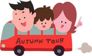 Family is Traveling by Bus clipart