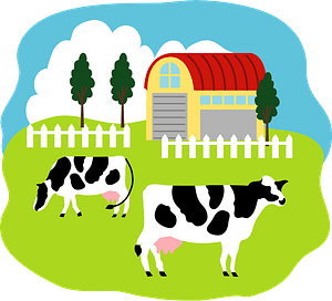 Cattle on the Farm clipart