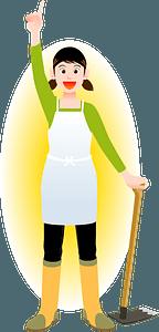 Farmer Woman Agriculture clipart