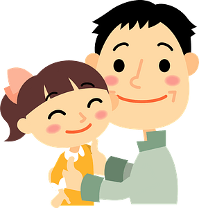 Father and Daughter clipart