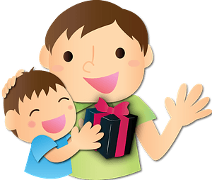 Father's Day Gift from Son clipart