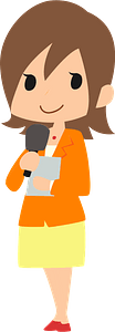 Female Announcer Reporter clipart