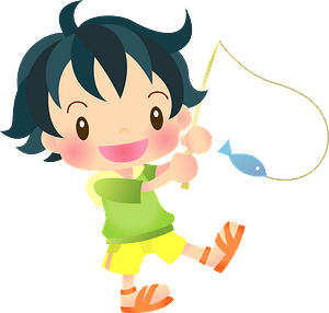 Child is Fishing clipart